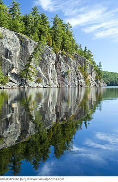 Granite Cliff, Rock Lake, Algonquin Provincial Park, Ontario, Canada - I went on a camping trip once up there. There was a bear making havoc in the camp. Sad when we invade their space. Nova Scotia, Landscape Photography, Nature Photography, Adventure Photography, Camping Photography, Gros Morne, Ontario Parks, Algonquin Park, Thinking Day