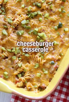 Cheeseburger Casserole - If you're a cheeseburger lover, and the thought of ground beef, tomatoes, pickles and cheese tickles your fancy, then this truly American, comforting casserole is for you!  #weightwatchers