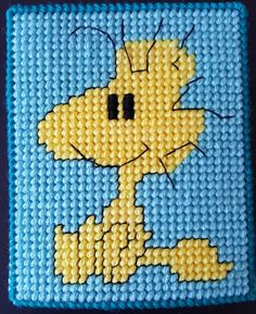 Peanuts Plastic Canvas Tissue Box Woodstock by sanzosgal.deviantart.com on @DeviantArt