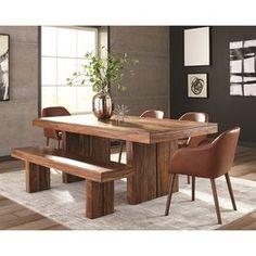 Scott Living Honey Sheesham Rectangular Dining Table 107501