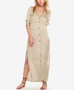 Denim & Supply Ralph Lauren Satin Military Shirtdress
