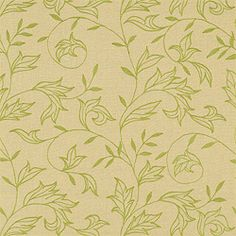 Thibaut Cypress - Shalimar Embroidery - Woven - Green on Natural