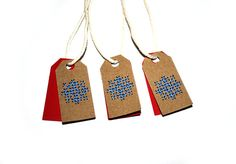 10 Christmas Tags | Bell Tags | Embroidered Tags | Unusual Tags | Mini Tags | Christmas SnowFlake  Christmas Gift Tags | Christmas Packaging