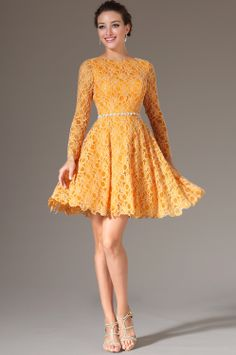 Robe de cocktail orange 84