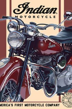 Indian Motorcycle Authorized Dealer Vintage Metal Sign 9x14