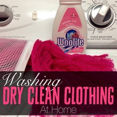Tired of overpaying for dry cleaning? Check out this easy way to wash dry clean clothing at home.
