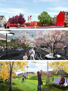 The Superkilen project goal is to make the Nørrebro neighborhood the center of innovative urban spaces of international standard which can be an inspiration for other neighborhoods.  The project is not a finalized art piece but an open creation that will recieve content and shape throught the dialogue with the users. The choice of colours and materials begin as neutral to language and culture but acquire a meaning over time as they are used in the cityspace and populated by the inhabitants.