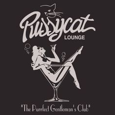 Pussycat Lounge Stock Print on Classic Bowler Retro Art, Retro Vintage, Simon Walker, Retro Bowling Shirts, Logos Retro, Stoner Art, Gentlemans Club, The Pussycat, Lounge