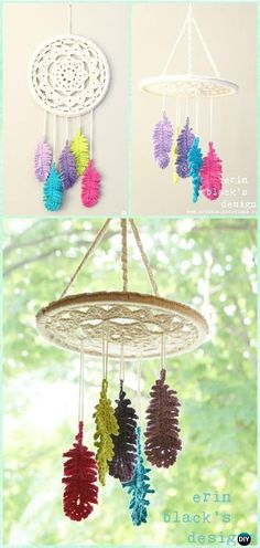 Crochet Dreaming of Feathers Dreamcatcher Mobile Pattern