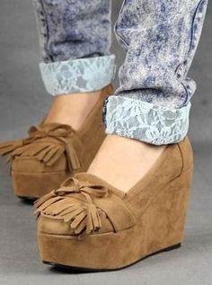 Zapatos Mocacines Plataforma Gamuzados Importados