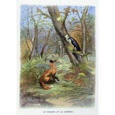 La FontaineS Fables The Fox And The Crow Canvas Art - (18 x 24)