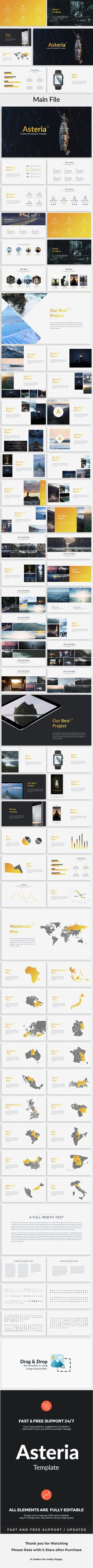 Asteria Creative Powerpoint Template — Powerpoint PPT #powerpoint #data charts • Download ➝ https://graphicriver.net/item/asteria-creative-powerpoint-template/19171814?ref=pxcr