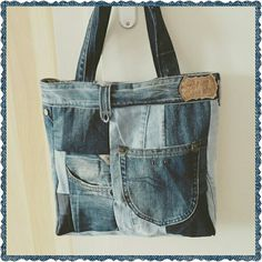 Denim Bag, Denim Jeans, Mochila Jeans, Recycled Denim, Tote Purse, Handmade Bags, Hand Bags, Messenger Bag, Satchel
