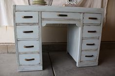 The Painted Parlor: {Yarmouth Blue Waterfall Desk}