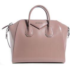 Givenchy Smooth Calfskin Medium Antigona Linen ❤ liked on Polyvore featuring bags, handbags, zipper tote, brown tote handbags, brown tote bags, tote handbags and brown purse