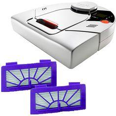 Neato XV-12 Robotic Vacuum w/ Bonus 2-Pack of Pet & Allergy Replacement Filters ($40 Value)