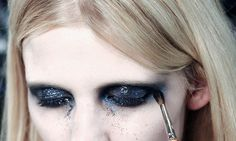 Lara Stone Backstage at Givenchy Spring 2010 Couture.