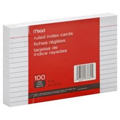 Mead Ruled Index Cards, 4 x 6 Inch