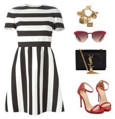 """""""Untitled #698"""" by patrisha175 ❤ liked on Polyvore featuring Valentino, Yves Saint Laurent and Chanel"""