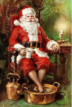 Santa soaks