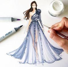 Dress Design Drawing, Dress Design Sketches, Fashion Design Sketchbook, Fashion Design Drawings, Fashion Sketches, Clothes Design Drawing, Fashion Drawing Tutorial, Fashion Figure Drawing, Fashion Drawing Dresses