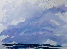 """Winter Storm"" acrylic on paper 22""x30"""