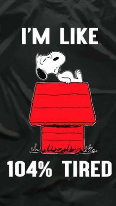 Snoopy has a chronic illness too