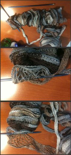 How To Knit A Ruffle Scarf Tutorial Mesh Scarf Via Youtube This