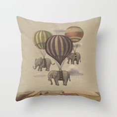 ~Flight of the Elephants ~  Throw Pillow Cover~