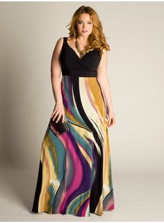 Bassa Maxi Dress - this print is great, and the colors are so pretty