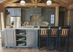 Blue Ridge Mountain Cabin - rustic - kitchen - nashville - Southport Cabinet Company