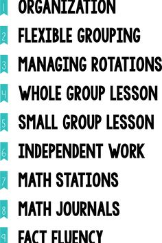 Components list: Guided Math, Managing Rotations Simply Skilled in Second