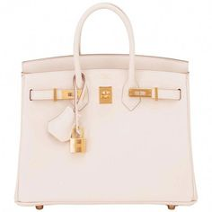 d755e9a63fc5 Hermes Craie 25cm Off White Swift Gold Hardware A Stamp Baby Birkin Bag For  Sale