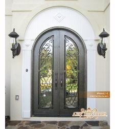 Wrought iron door - love, love, love!