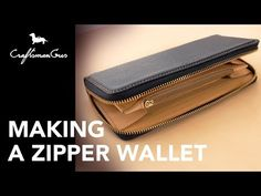 This classic long wallet meant to use without folding the bill. (There is Japanese ideal of using money that, the way of using money have. Diy Wallet, Long Wallet, Card Wallet, Zipper Pouch Tutorial, Purse Tutorial, Leather Working Patterns, Bag Patterns To Sew, Tote Pattern, Pattern Sewing