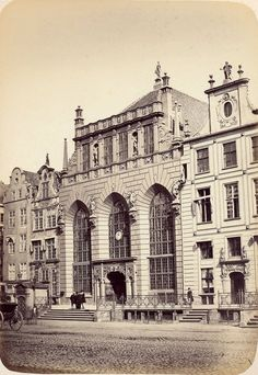 Germany And Prussia, Gdansk Poland, Danzig, Historical Pictures, Krakow, Beautiful Buildings, Old Photos, 19th Century, Black And White