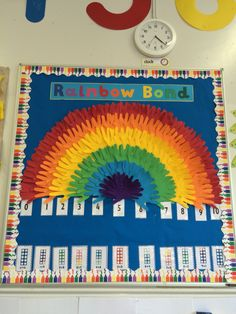 Maths- Number Bonds to 10 display Rainbow