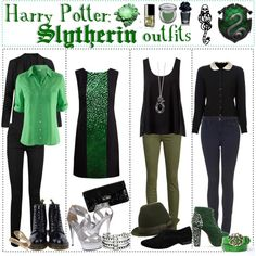 """Harry Potter: Slytherin Outfits"" by roseygal-16 on Polyvore"