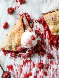 the best sour cherry galette I howsweeteats.com