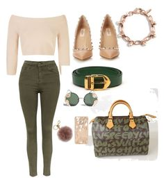 """Untitled #4"" by ariel-simone ❤ liked on Polyvore featuring BCBGMAXAZRIA, Louis Vuitton, Topshop, Valentino, Spitfire and MICHAEL Michael Kors"