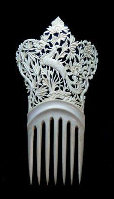 bone hair combs - Google Search