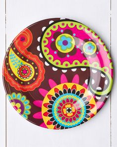 plates Crochet Paisley, Paisley Pattern, Dining Plates, Painted Chairs, Style Tile, Doodle Drawings, Ceramic Painting, Decoupage, Glass Art