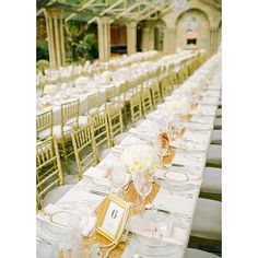 awesome vancouver wedding Banquet tables are super popular this year! A gold table runner and lush white blooms add a touch of glamour to this reception space. #banquettable #2016trend #together #marriage #celebrate #bridesmaids #ido #celebration #wedding #eventrental #danggoodevents by @danggoodbooths  #vancouverwedding #vancouverwedding