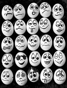 Photo Picture of White eggs and many funny faces stock photo, images and stock photography. Image of White eggs and many funny faces stock photo, images and stock photography. Pebble Painting, Pebble Art, Stone Painting, Stone Crafts, Rock Crafts, Cartoon Faces, Funny Faces, Smiley Faces, Art D'oeuf