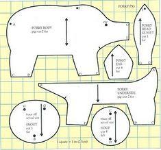 - Fabric Animal Door Stop Pig Crafts, Doll Crafts, Baby Crafts, Sewing Crafts, Sewing Projects, Doorstop Pattern, Softie Pattern, Sewing Stuffed Animals, Stuffed Animal Patterns