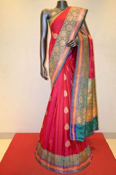 Banarasi Soft Silk Saree With Grand Kadwa Zari Buttas Product Code: AB212354 Online Shoping: http://www.janardhanasilk.com/index.php?route=product/product&search=AB212354&description=true&product_id=3955