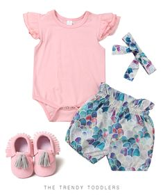 0d3adae01 SALE 45% OFF + FREE SHIPPING! SHOP Our Pink Mermaid Look for Baby Girls