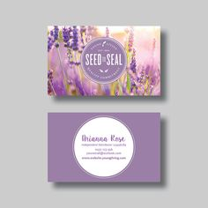 Young Living Essential Oils Business Card by BellGraphicDesigns