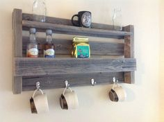 Coffee Tea Shelf by DelHutsonDesigns on Etsy