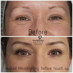 Healed Microblading derby before touch up .